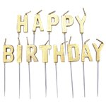Happy-birthday-gold-cake-candles-cosmos-party-supplies
