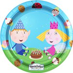 Ben -and-holly-paper-plate-from-cosmos-party-supplies