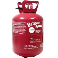 Helium canister for inflating foil balloons from Cosmos Party Supplies