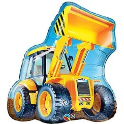 Digger-shaped-balloon-from-cosmos-party-supplies