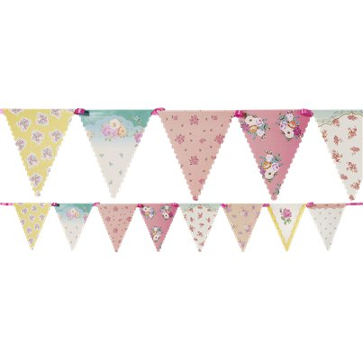Floral-bunting-from-Cosmos-party-supplies