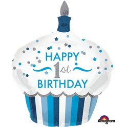1st-birthday-blue-cup-cake-balloon-from-Cosmos-party-boxes