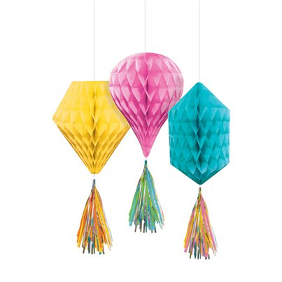 Honeycombe-assorted-hanging-decorations-from-Cosmos-party-boxes
