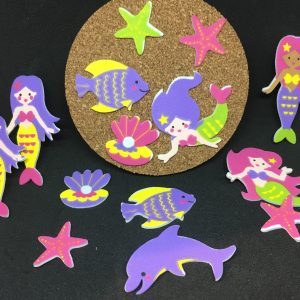 Mermaid-coaster-set-from-Cosmos-party-boxes
