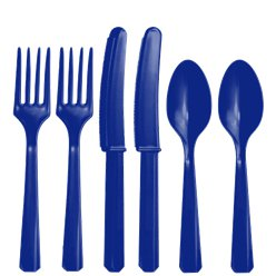 Royal-blue-cutlery-plastic-from-Cosmos-party-boxes