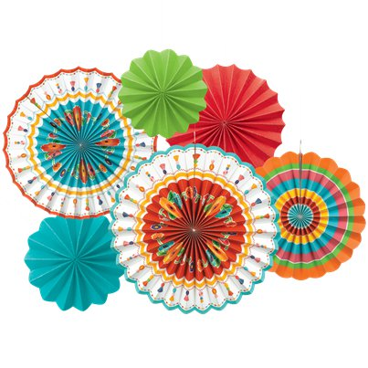 Boho-paper-fans-from-Cosmos-party-boxes